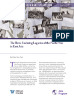 The Three Enduring Legacies of the Pacific War in East Asia