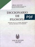 Jolivet Regis Diccionario de Filosofía