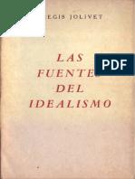 Jolivet Regis Las Fuentes Del Idealismo