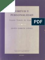 Virtud y Personalidad Según Santo Tomás de Jesús García López