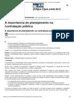 A importancia do planejamento na contratação pública - Jus.com.br _ Jus Navigandi.pdf