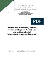 Psicologia Clinica - Terapias Psicodinámica