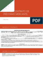 EJEMPLO CONTRATO DE PRÉSTAMO MERCANTIL