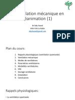 ventilation mécanique anesthesie P1 pour pdf