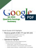Google Earnings Slides 2010Q4