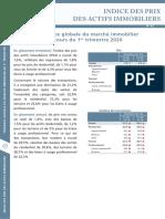 INDICE DES PRIX DES ACTIFS IMMOBILIERS - T1 2020