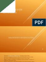 evaluacion diagnostico educacion