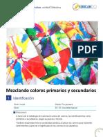Mezclando colores primarios y secundarios. plan clase