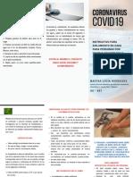 INSTRUCCIONES AISLAMIENTO CORONAVIRUS COVID19
