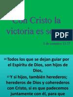 con cristo la victoria es segura