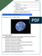 Atividade Avaliativa de Geografia - 2º ano. E.F.1 1º BIMESTRE - ENSINO REMOTO