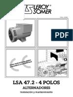 M Leroy Somer Alternador LSA 47.2 - 4 Polos Inst y Mtto ESP.pdf