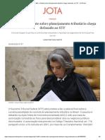 ADI 2.446_ o debate sobre planejamento tributário chega defasado ao STF - JOTA Info