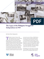 The Legacy of the Philippine Struggle for Independence in 1945