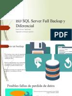 BD SQL Server Full Backup y Diferencial