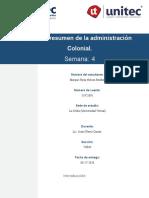 S4 - T4.1 - Cuadro Resumen de La Administración Colonial - Historia - MN