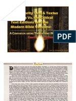 The Majority Text & Textus Receptus Vs. the Critical Text Editions and the Modern Bible Versions, HCSB Version, Fourth Edition (Rev.) -- FREE