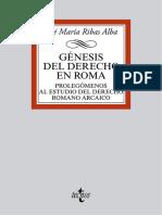 Génesis del Derecho en Roma - José María Ribas Alba