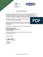 Electrored Bolivia S.R.L. - Distributor Letter - Spanish
