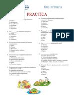 tarea alimentos y nutrientes 6to primar