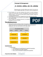 Basic elements of decision making and the planning process