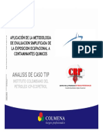 1.23 Aplicación de la metodologia  De evaluacion simplificada de La exposicion ocupacional a Contaminantes quimicos