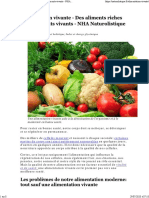 Alimentation vivante - Des aliments riches en nutriments vivants - NHA Naturolistique