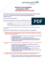 Medicines Focus Bulletin - Insulin - December 2010