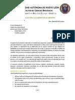 SUGERENCIAS PARA LA ELABORACIÓN DE REPORTES Biologia