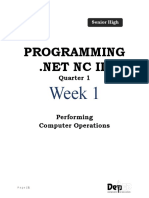 Programming .net Week 1 LP