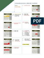 Shcool Calendar 2020-2021 - 12 May