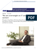 'We are overweight on IT and telecom sectors' _ Value Research