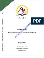 18CS36 DMS Module 1 Notes  of VTU 3rd Semester CSE/ISE Discrete Mathematics