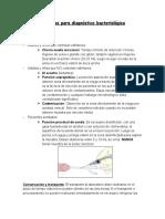 Muestras para diagnóstico bacterológico