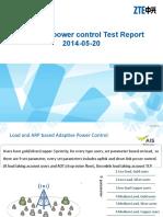 Adaptive power control Test Report