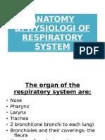 ANATOMY &PHYSIOLOGI OF RESPIRATORY SYSTEM