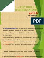 CHAPITRE – 4 CONTRÔLE DE MICROORGANISMES