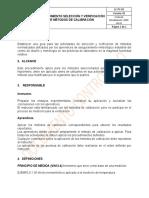 LC-PC-02 PROCEDIMIENTO SELECCIÓN Y VERIFICACIÓN DE MÉTODOS DE CALIBRACIÓN