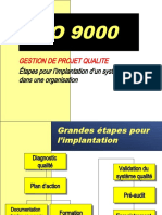 gestion de projet Qualité selon ISO 9000