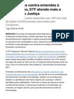 Em decisões contra emendas à Constituição, STF atende mais a carreiras da Justiça - 07:08:2020 - Ilustríssima - Folha