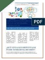 Implementación de las TIC en las actividades formativas Cristian Velez