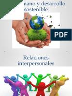 Ser humano y desarrollo sostenible pwr point