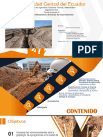 Especificaciones técnicas de excavaciones