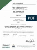 Certificado y anexo 16E5-0036-03 Renovacion 2da