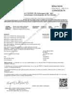 Resultados ADRIAN JOSE GOMEZ RODRIGUEZ - _B_SARS CoV-2 (COVID-19)_ Anticuerpos IgG - IgM__B__BR_ _B_Metodo_ Inmunoensayo Cromatografico de Oro Coloidal_B_