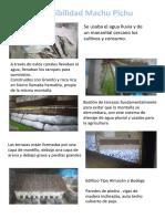 Sostenibilidad Machu Pichu