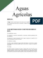 Aguas Agrícolas