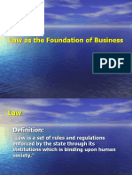 Law as the foundation of Business