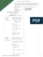 examen Integración por descomposición en fracciones parciales