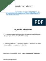 Exercícios sobre adjuntos adverbiais e adnominais